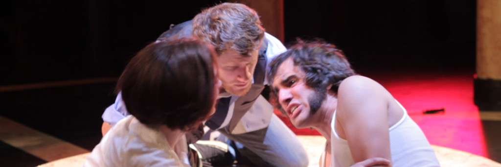Rachel Gluck, Steve Carpenter and Eric Scotolati in Curio Theatre's production of Romeo and Juliet